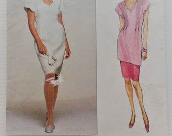 Vintage Vogue Albert Nipon sewing pattern 2692 - Misses' dress tunic and skirt - size 6-8-10