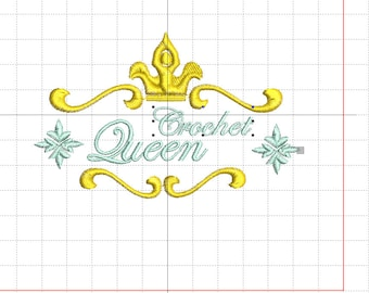 """Embroidery file """"Crochet Queen"""""""
