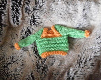 YoSD knit sweater | Green/orange
