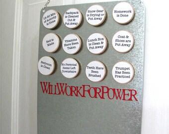 "Custom ""Power Earning"" Chore Chart System"