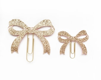 Rose Gold Bow Paper Clip