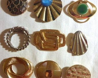 Nice Lot of 9 Vintage Scarf Clips