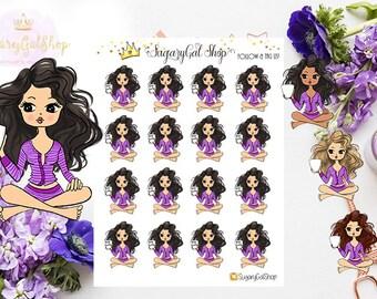 Miss Glam Lady D Sippin Tea Sticker Sheet