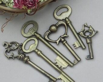Brass Vintage Keys - SALE