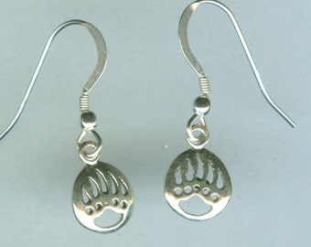 Sterling Silver SW BEAR PAW Earrings  - French Earwires