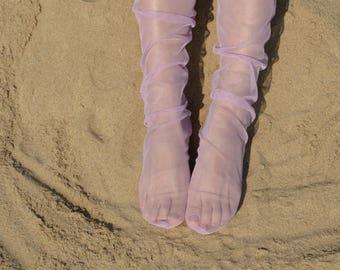 11 Color Tulle Socks