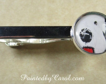 Old English Sheepdog Tie Bar, OES Tie Tack, Dulux Dog Tie Clip, OES Lapel Pin, Sheepdog Gifts, Sheepdog Mens Gifts, Sheepdog Jewelry
