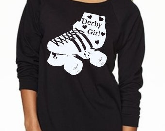 Roller Derby Shirt Womens Clothing Cute Sweat Shirts Roller Skate Long Sleeve Tops Active wear for the gym Fall Fashion