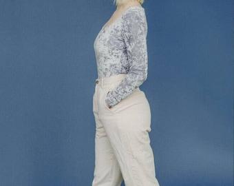 vintage silver brushed velvet bodysuit // womens small velvet bodysuit
