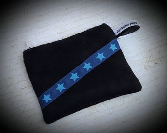 Wallet and / or card holder in black suede.