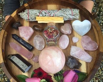 Ultimate Love crystal set, crystal kit, crystal grid, ultimate, beginners , gift, healing