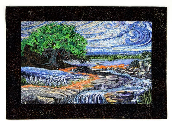 Art Quilt Wall Decor Vincent Van Gogh Style Wall Hanging