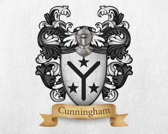 Cunningham Family Crest - Print