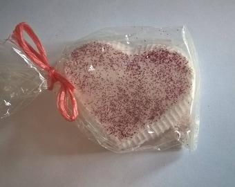 Love Heart Bath Bomb, Orange, Bergamot, valentines