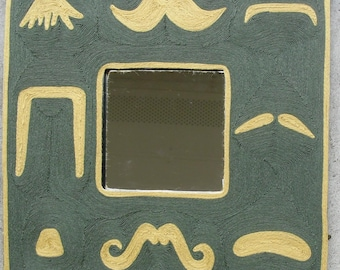 Mustache Mirror - Blond and Green