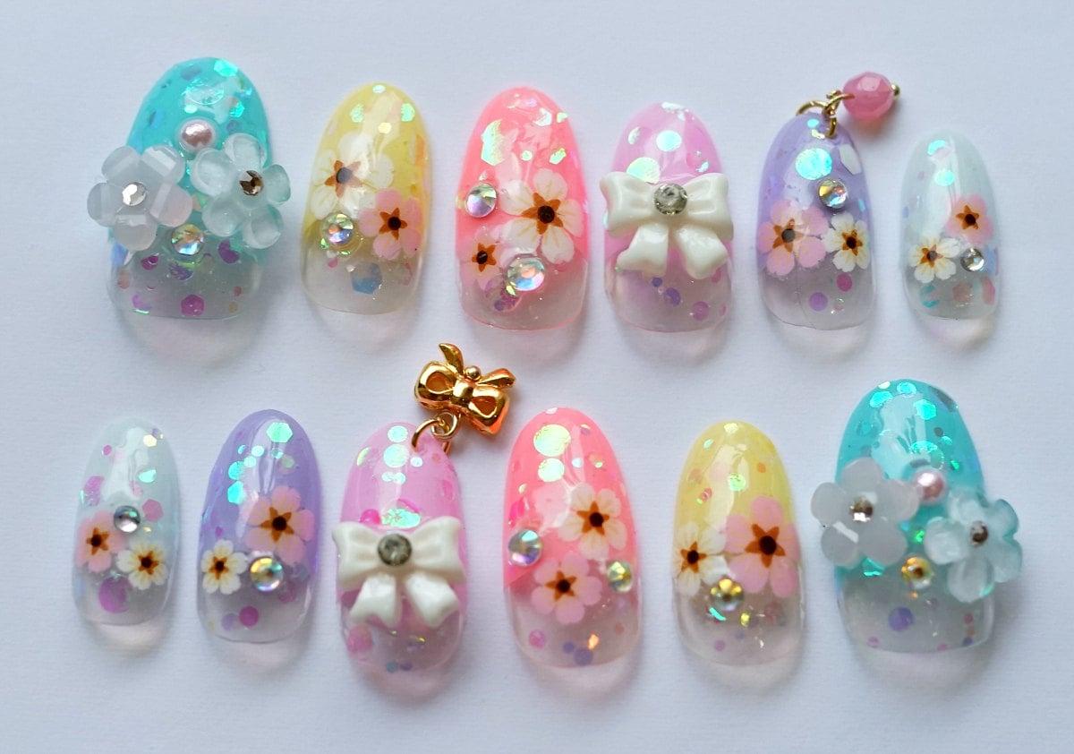 Kawaii nails 3d nails japanese nail nail art spring nail zoom prinsesfo Image collections