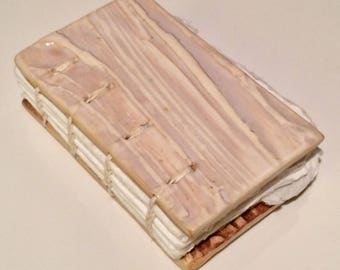 Handmade Ceramic Artist Book - Blank Book with Clay Covers