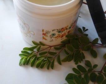 Vouna Essentials Organic Handmade Moringa Moisturizing  Face and Body Cream with Vanilla/Orange 4 oz