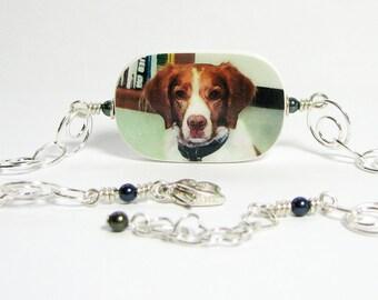 Pet Memorial Photo Charm Bracelet  - P1RB5