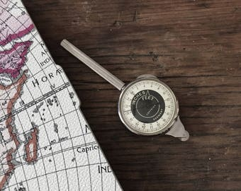 Vintage German rolling inch counter-Drafting Tool-Engineering- Map Measuring Tool