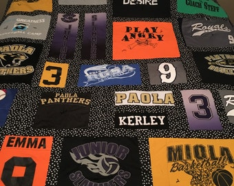 Memory Tshirt Quilt / Throw made from your shirts