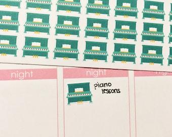 30 Piano Stickers! Perfect for your Erin Condren Life Planner, Filofax, Kikkik, Plum Paper, other planner!