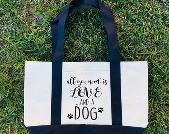 Dog Tote Bag, Canvas Tote Bag, Dog Mom Tote, Canvas Tote, Tote Bag, Dog Tote Bag, Dog Tote Bags, Pet Tote,  Dog Bag, Dog Mom Canvas Bag, Dog