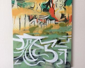Abstract Graffiti Acrylic Painting