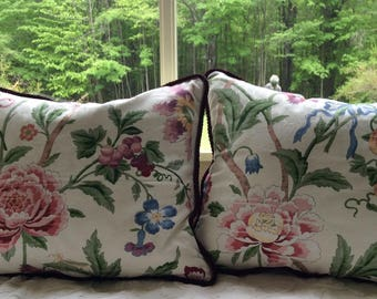 Jay Young designer fabric pillow covers