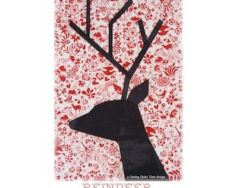 Reindeer Paper Pieced Pattern