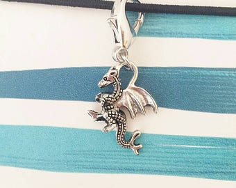 Dragon Planner Charm// Stitch Marker// Zipper Pull// Keychain// Purse Charm