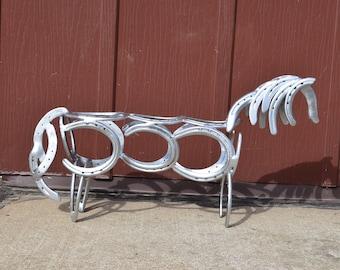 Horseshoe Horse Sculpture