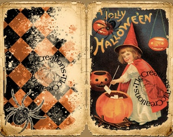 Halloween, the 31st Vintage Printable Junk Journal Kit Journal Papers, Journal Cards
