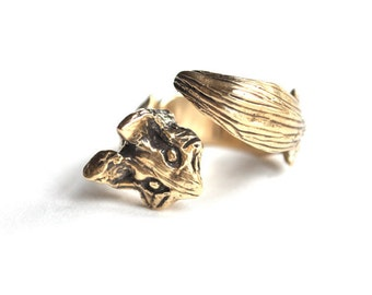 Fox ring. Brass or Sterling Silver. For Men and Women. Balthazar Ring