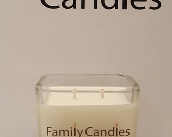 Family Candles - Antique Sandalwood 7.5 oz Double WIcked Soy Candle
