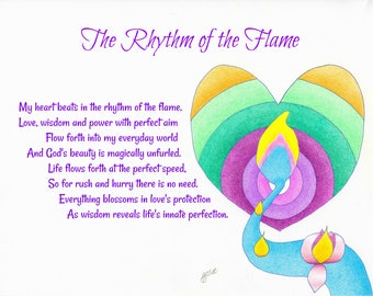 Original healing art and poetry, heart health, visualization, spiritual, inspirational