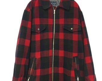 Authentic Daniel Hechter checked woolen coat size 50 (Medium)