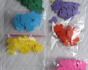 Confetti set of 6 colors 50 pieces 6 sachets each bag - 4 designs to choose from