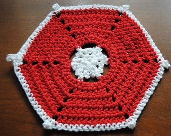 Red and White Dish Cloth