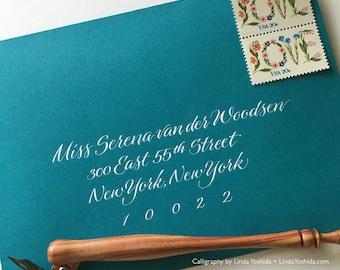 Calligraphy Envelope Addressing in Serena Script