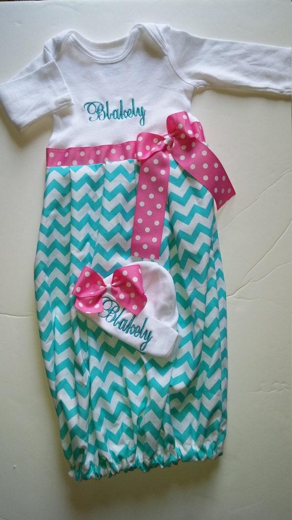 Newborn girl coming home outfit newborn layette gown newborn