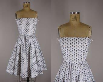 1960s Vintage Lanz Sundress / 60s Cotton Dress / Floral Sundress