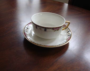 Cleveland China BRIDAL 18K Gold Trimmed Large Cup and Saucer!