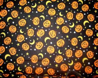 Jack-o-Lantern Moon CottonFabric