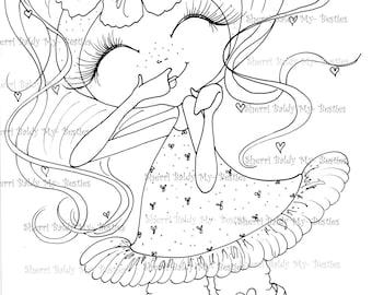 INSTANT DOWNLOAD Digital Digi Stamps Big Eye Big Head Dolls Digi  My Besties TM Img956  By Sherri Baldy