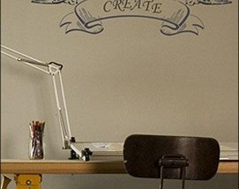 Flowing Banner Stencil- Reusable Craft & DIY Stencils- S1_01_76L -8.5x26- By Stencil1