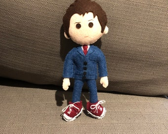 Tenth Doctor, Doctor Who inspired felt plush doll