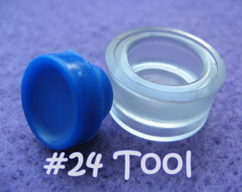 "Cover Button Assembly Tool - Size 24 (5/8"") diy notion button supplies rubber hand press non machinery"