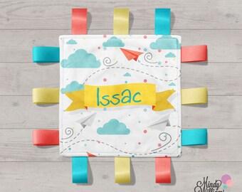 Paper Planes - Personalised tag blanket