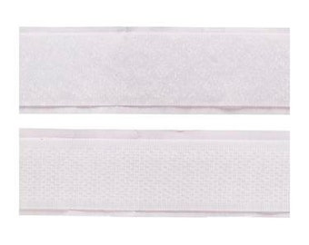 Sew-On Hook and Loop Tape, White